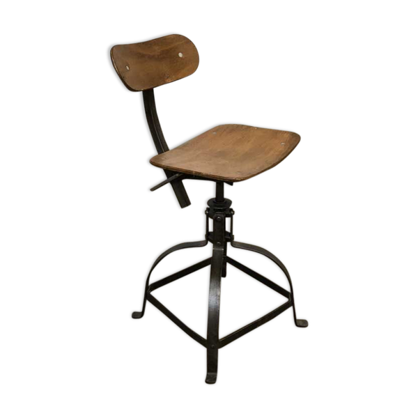 Chaise d'atelier vintage de Bienaise 1940s