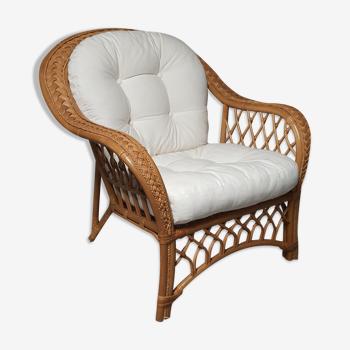 Braided rattan chair