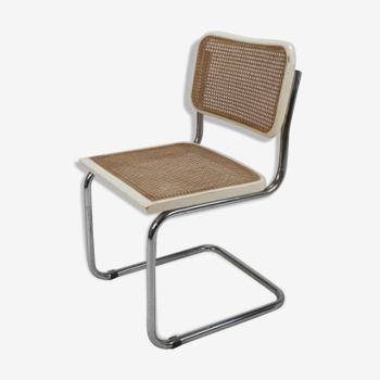Italian tubular frame and cane Cesca Chair, 1970s