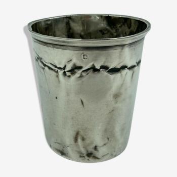 Timbale en argent XlXeme poincon minerve grande taille 67 grammes