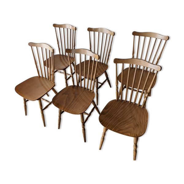 Ensemble de 6 chaises baumann
