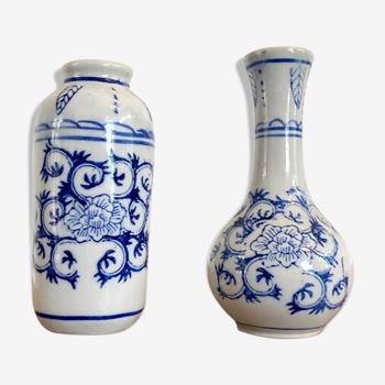 Paire de soliflores en porcelaine