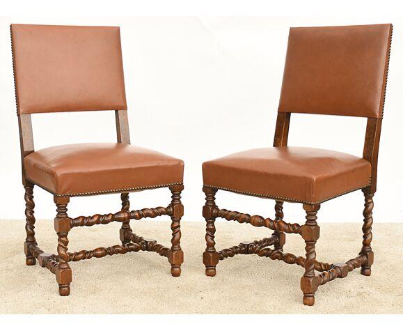 6 chaises de style Louis XIII