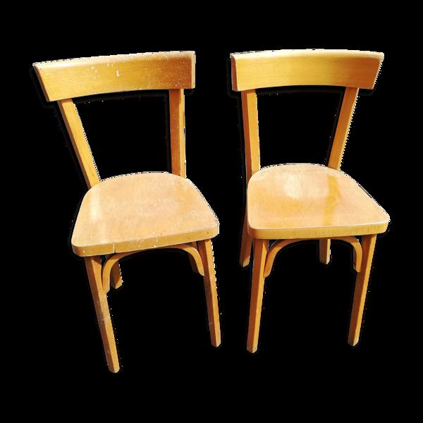 Set de 2 chaises Baumann bistrot ancien