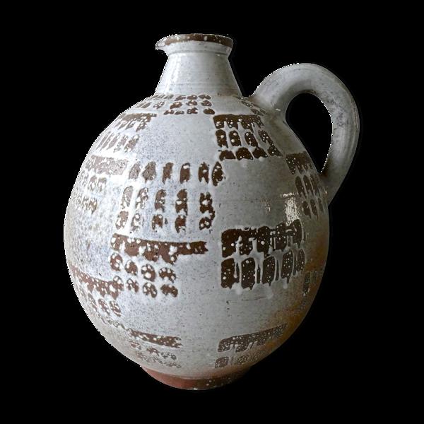 Vase en grès émaillé de Joël Baudouin années 60