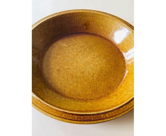 Corbeille à fruits en céramique brune D28cm