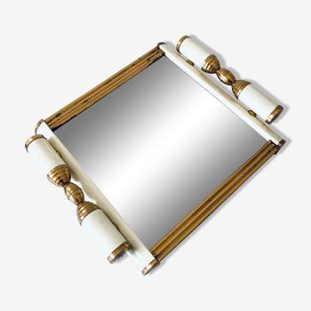Plateau miroir style art déco