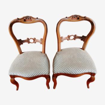 Deux chaises style Louis Philippe