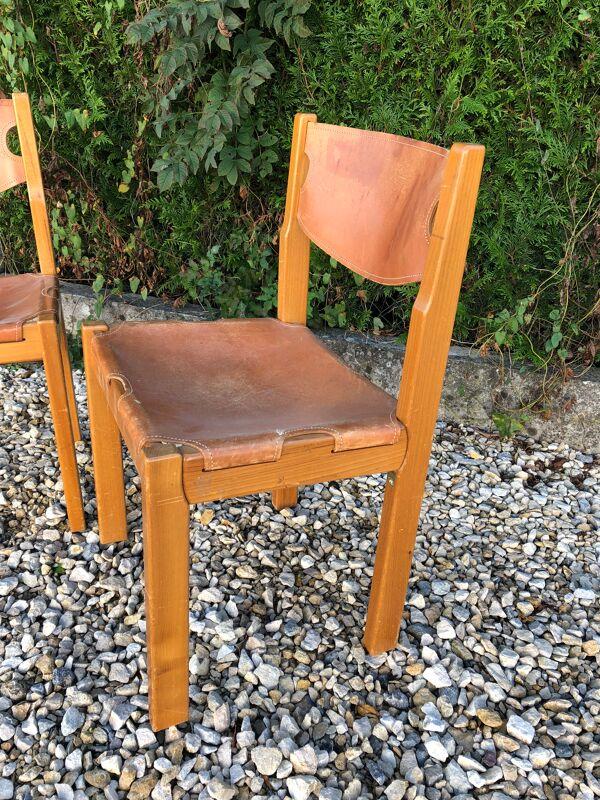 Paire de chaises brutaliste