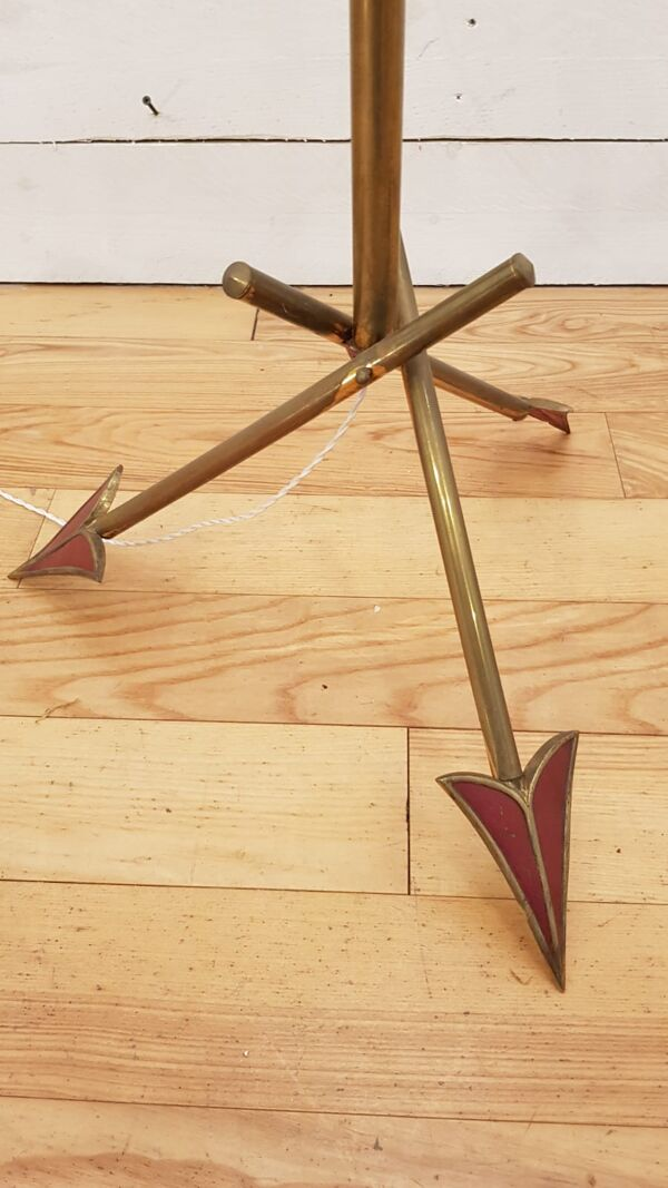 Lampadaire vintage tripode à flèches, 1950