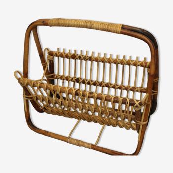 Porte-revue en bamboo 1960