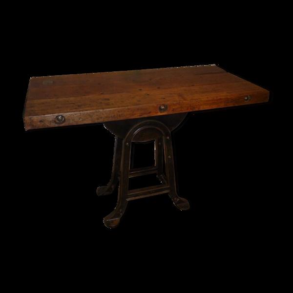 Table console industriel meule a eau