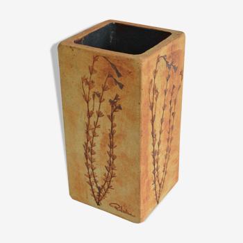 Vallauris terracotta vase by R. Leduc