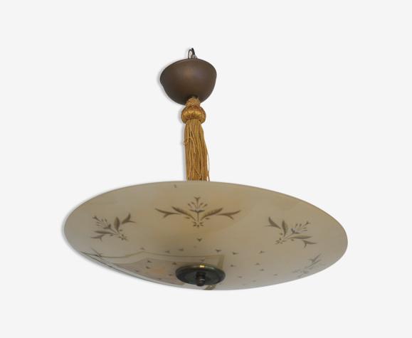 Vintage rockabilly ceiling lamp ufo, Sweden 1950s