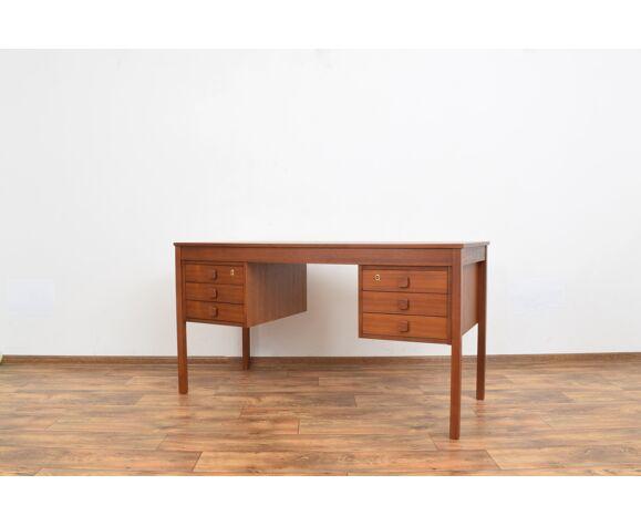 Bureau en teck danois du milieu du siècle de Domino Møbler, années 1960.
