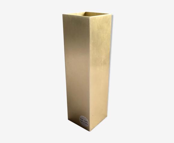 Vase vintage Pierre Vandel pour Pierre Cardin aluminium brossé