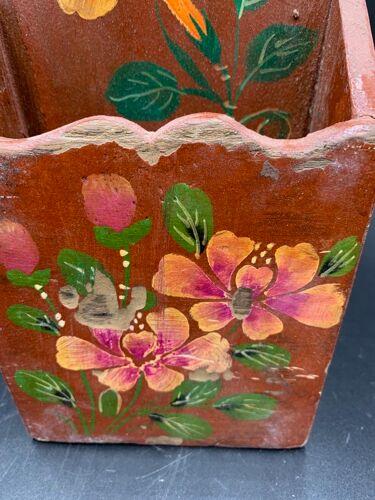 Boite à lettres en bois d'orme orange Chine du sud