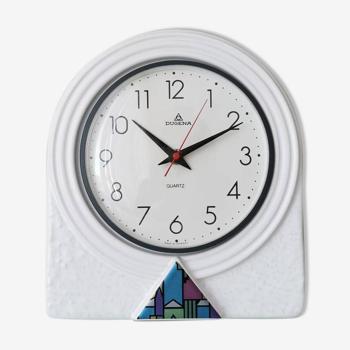 Horloge allemande  en céramique Dugena années 90