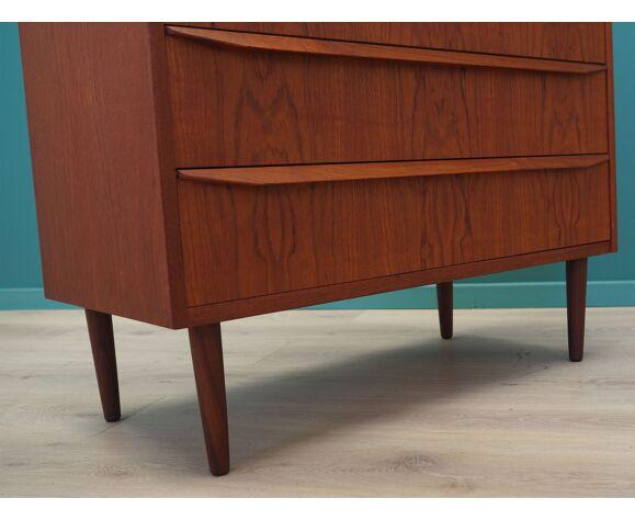 Commode en teck, design danois, années 60, fabriqué au Danemark