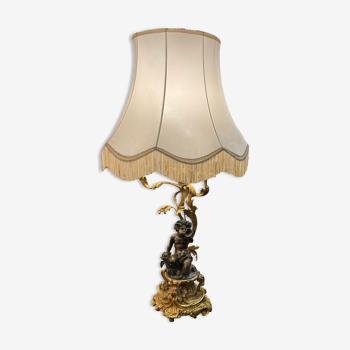 Lampe de table en bronze 18ème
