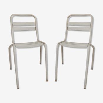 Paire de chaises tolix