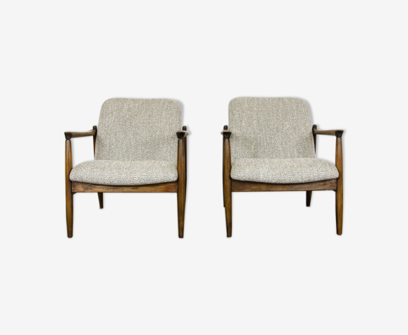 Pair Of Gfm 64 Armchairs By Edmund Homa