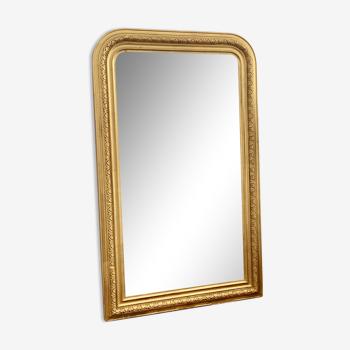 Miroir ancien louis Philippe doré cheminée sculpté 141x86.5cm
