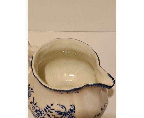 Pot à lait faïence Sarreguemines Lancaster décor Floral
