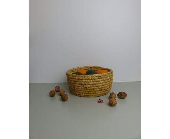Panier en osier marocain