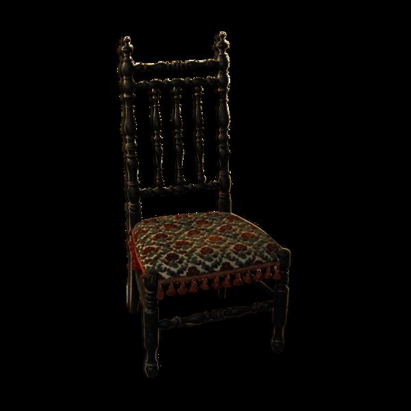 Chaise enfant Napoléon III, bois noirci,
