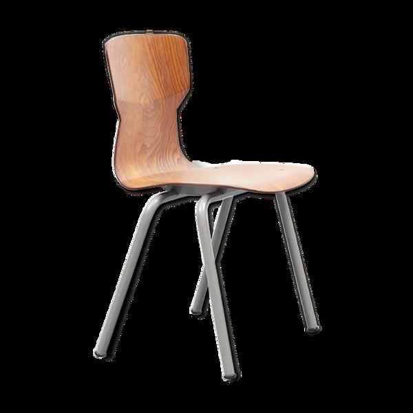 Chaise Eromes en chene / gris
