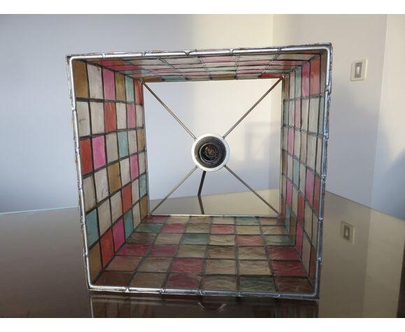 Suspension en nacre multicolore années 70 80