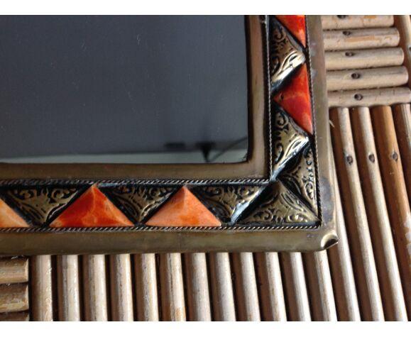 Miroir en laiton - 18X25cm