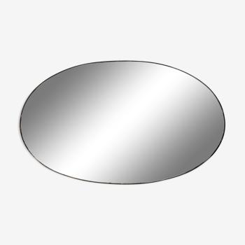 Miroir ovale biseauté à poser 42 par 30cm