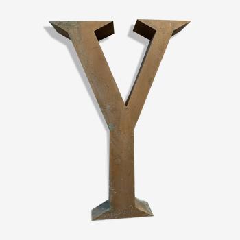Old Sign Letter Y