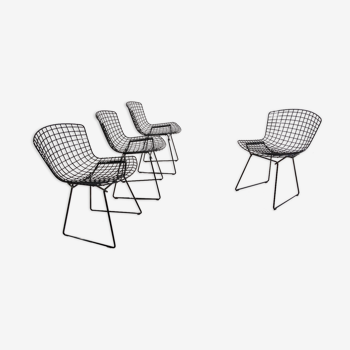 Lot de 4 chaises de Harry Bertoia