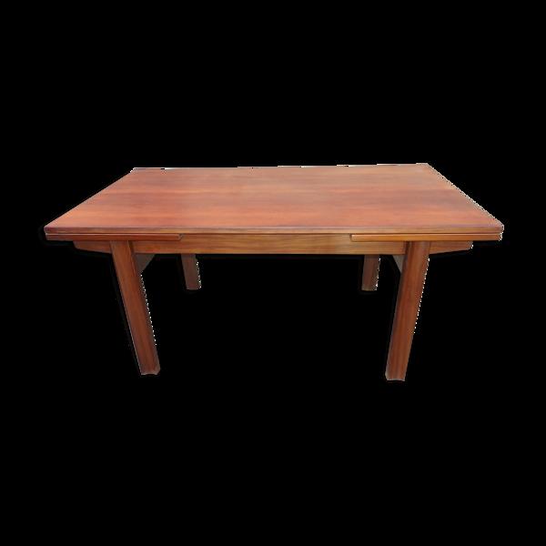 Table de salle a manger rectangulaire en teck vintage