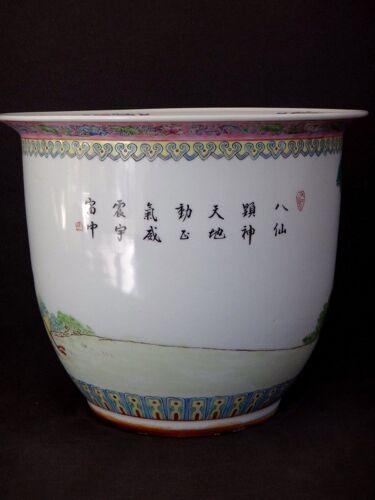 Cache pot chinois famille rose vase Chine porcelaine début XXème
