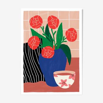 "illustration ""Teatime"" A4"