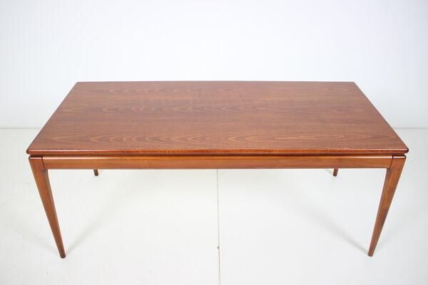 Table de conférence restaurée du milieu du siècle, années 1960