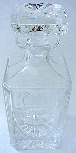 Carafe carrée à whisky en cristal lorrain