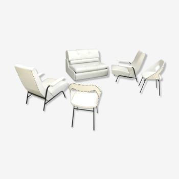 Salon de designers années 50 skaï
