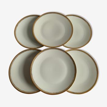 Assiettes porcelaine doré