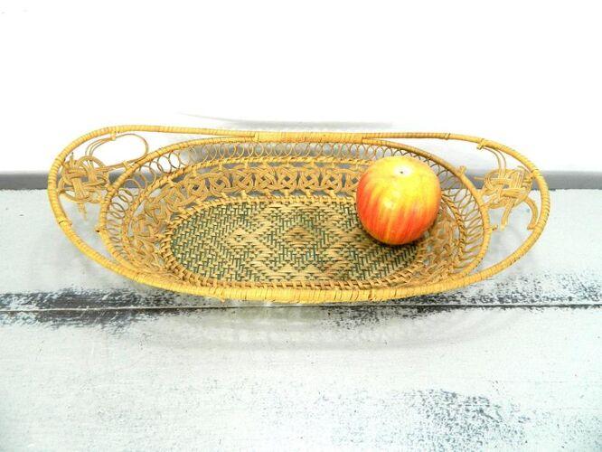 Corbeille à pain ovale décoration murale ou corbeille de table