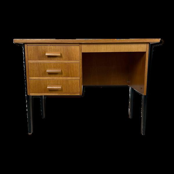 Bureau vintage en bois années 60