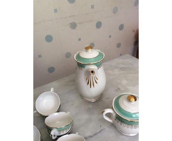 Service à café en semi porcelaine