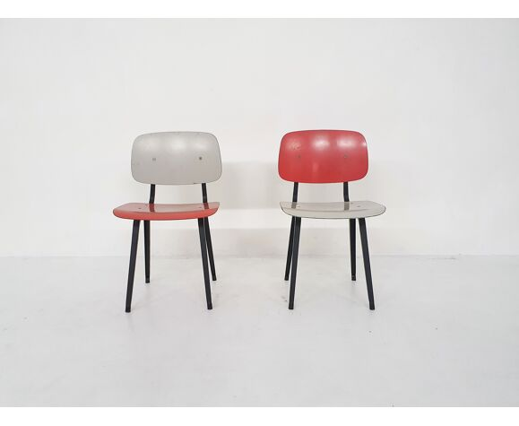 Paire de chaises à manger Friso Kramer pour Ahrend de Cirkel «révolte», Pays-Bas années 1950