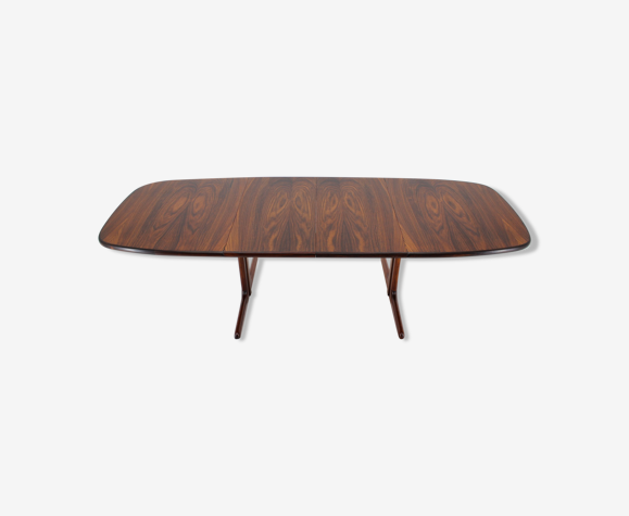 Table large en palissandre 1960s Danemark