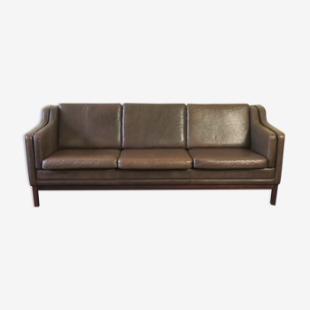 Leather sofa in brown leather from Denmark