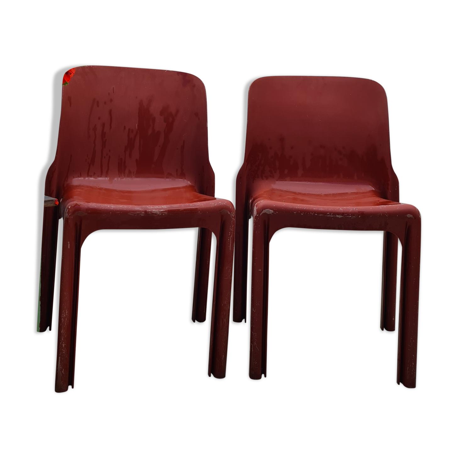 2 chaises Artemide Selene par Vico Magistretti